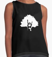Inverted Home Tree (For Black T-shirts) Contrast Tank