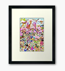 Adventure Time - Where's Finn and Jake Framed Print