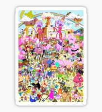 Adventure Time - Where's Finn and Jake Sticker
