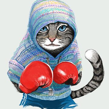 Boxing cat by tummeow
