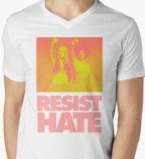Resist Hate - Gloria Steinem and Dorothy PItman Hughes V-Neck T-Shirt