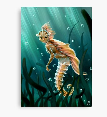 Creature underwater Canvas Print