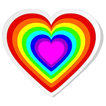 Lbgt rainbow heart by pixxart