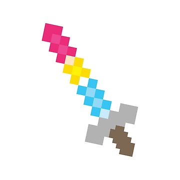 Pansexual Pixel Sword by cel3stial
