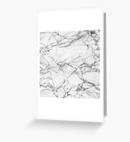 White & Gray Marble Stone Greeting Card