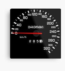 NISSAN N カ ン ン ン (NISSAN Skyline) R33 NISMO Speedometer Metal Print