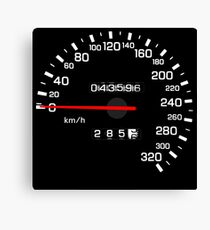 NISSAN N カ ン ン ン (NISSAN Skyline) R33 NISMO Speedometer Canvas Print