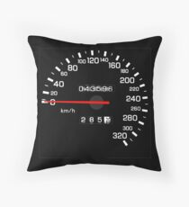 NISSAN N カ ン ン ン (NISSAN Skyline) R33 NISMO Speedometer Throw Pillow