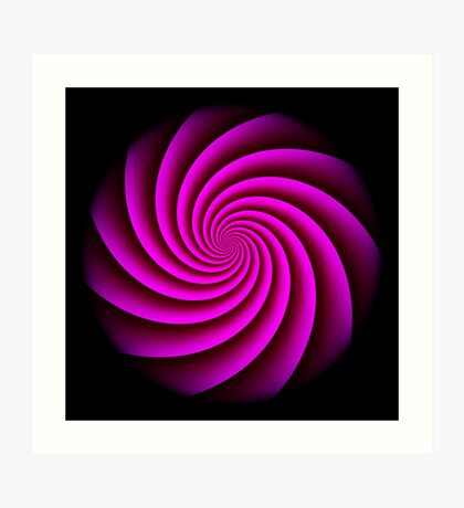 Digital Rose Swirl by Julie Everhart Art Print
