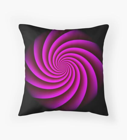 Digital Rose Swirl by Julie Everhart Throw Pillow