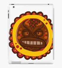 goofy wooden mask iPad Case/Skin