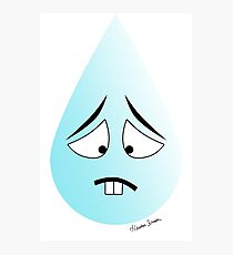 Too Sad Teardrop Photographic Print