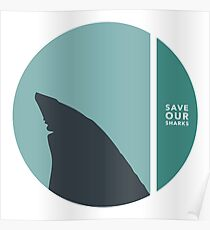 save our sharks circles Poster