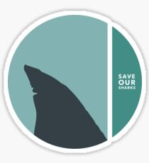 save our sharks circles Sticker
