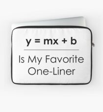 Math Pun One-Liner Laptop Sleeve