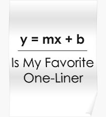 Math Pun One-Liner Poster