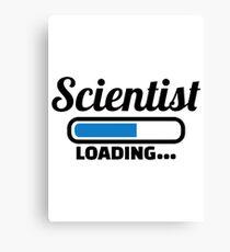 Scientist loading Canvas Print