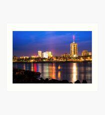 Riverside View of Tulsa Oklahoma Skyline Art Print