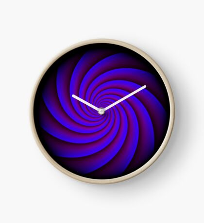 Digital Blue by Julie Everhart Clock