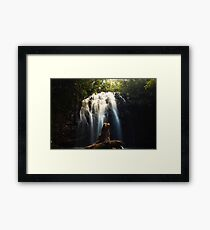 Long Exposure Waterfall Cavern Art Prints and Posters Framed Print