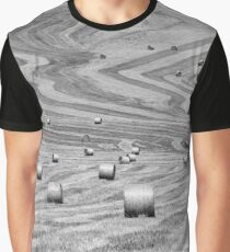 hay cutting patterns, Monticchiello, Tuscany, Italy Graphic T-Shirt