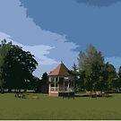 John Coles Park, Chippenham (Retro) by MissElaineous Designs