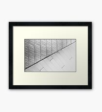 White Cement or Concrete Wall Texture and Background Framed Print