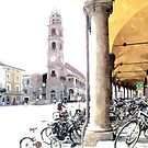 Bicycles in the arcades by Giuseppe Cocco