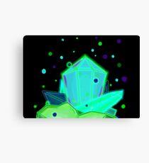 Glow Crystals Canvas Print