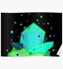 Glow Crystals Poster