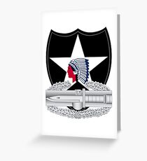 2nd Infantry Combat Action Greeting Card