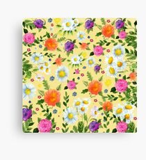 Flowering Daisy Time Canvas Print