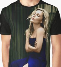 Gillian Anderson oil color painting  Graphic T-Shirt