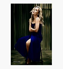 Gillian Anderson oil color painting  Photographic Print