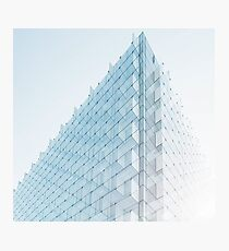 Perspective of Abstract Glass Blocks Building Photographic Print