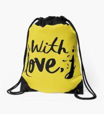 with love j - jessica Drawstring Bag