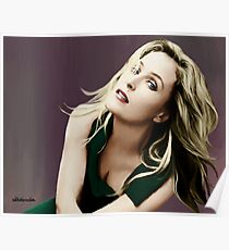 Gillian Anderson in oil colors Poster