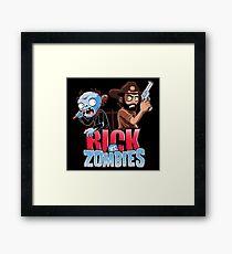Rick vs Zombies Framed Print