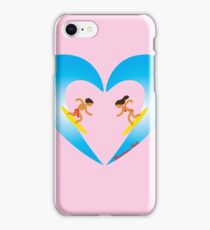 Surfer Couple Valentine's Day Heart Wave iPhone Case/Skin