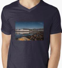 Islay: Laphroaig Distillery Men's V-Neck T-Shirt