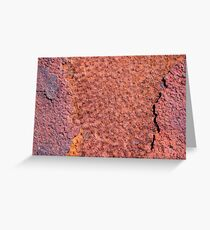 Old metal iron rust Greeting Card