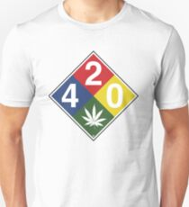 420 Caution Sign Fun Unisex T-Shirt