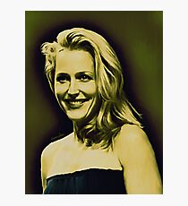 Gillian Anderson in oil colors Photographic Print