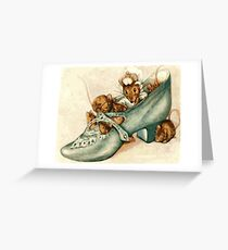 Beatrix potter - mice in a shoe Greeting Card