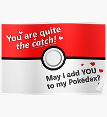 You Are Quite the Catch Gamer Valentine's Day Card Poster