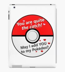 You Are Quite the Catch Gamer Valentine's Day Card iPad Case/Skin