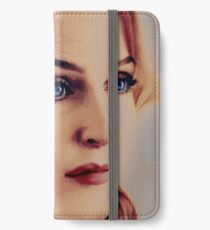 Gillian Anderson oil color painting  iPhone Wallet/Case/Skin