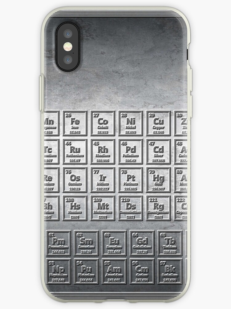 Steel Stamped Periodic Table Iphone Cases Covers By Sciencenotes