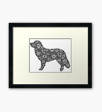 Nova Scotia Duck Tolling Retriever- Part of the Doodle Dog Collection Framed Print