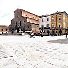 Square with church and buildings by Giuseppe Cocco